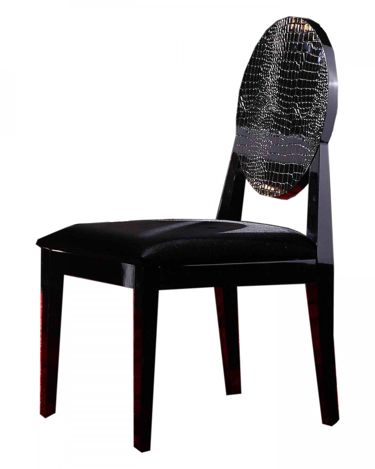 modern black chair set accent purple aa018 white lacquer