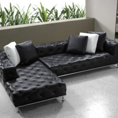 Leather Sectional Sofa Tufted Tray Table Target Divani Casa Jazz Modern