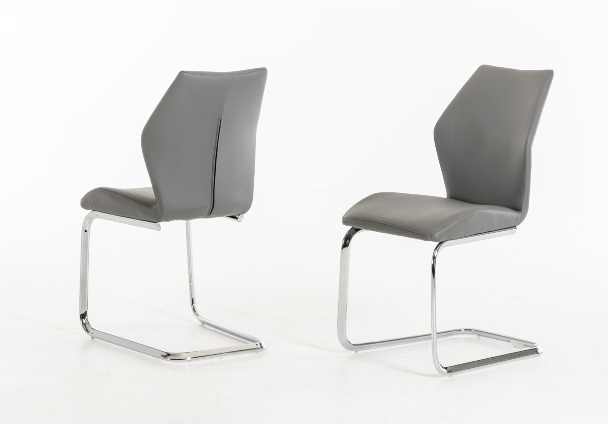 modern chair design dining gym accessories welles grey leatherette set of 2
