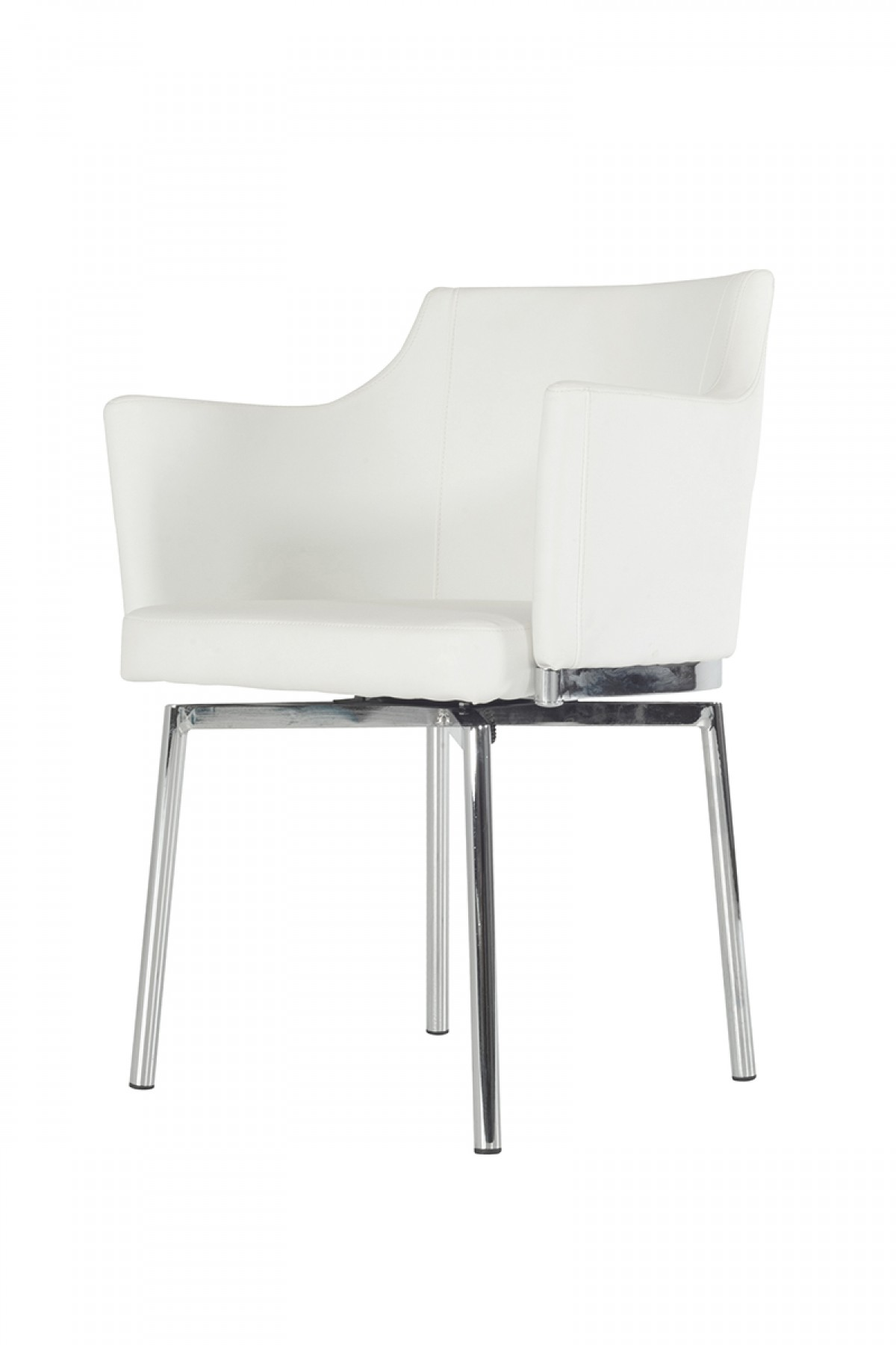 modern white chair the empty modrest kaweah dining chairs