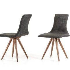 Modern Gray Dining Chairs Ab Exercise Chair As Seen On Tv Tracer Grey Fabric Set Of 2