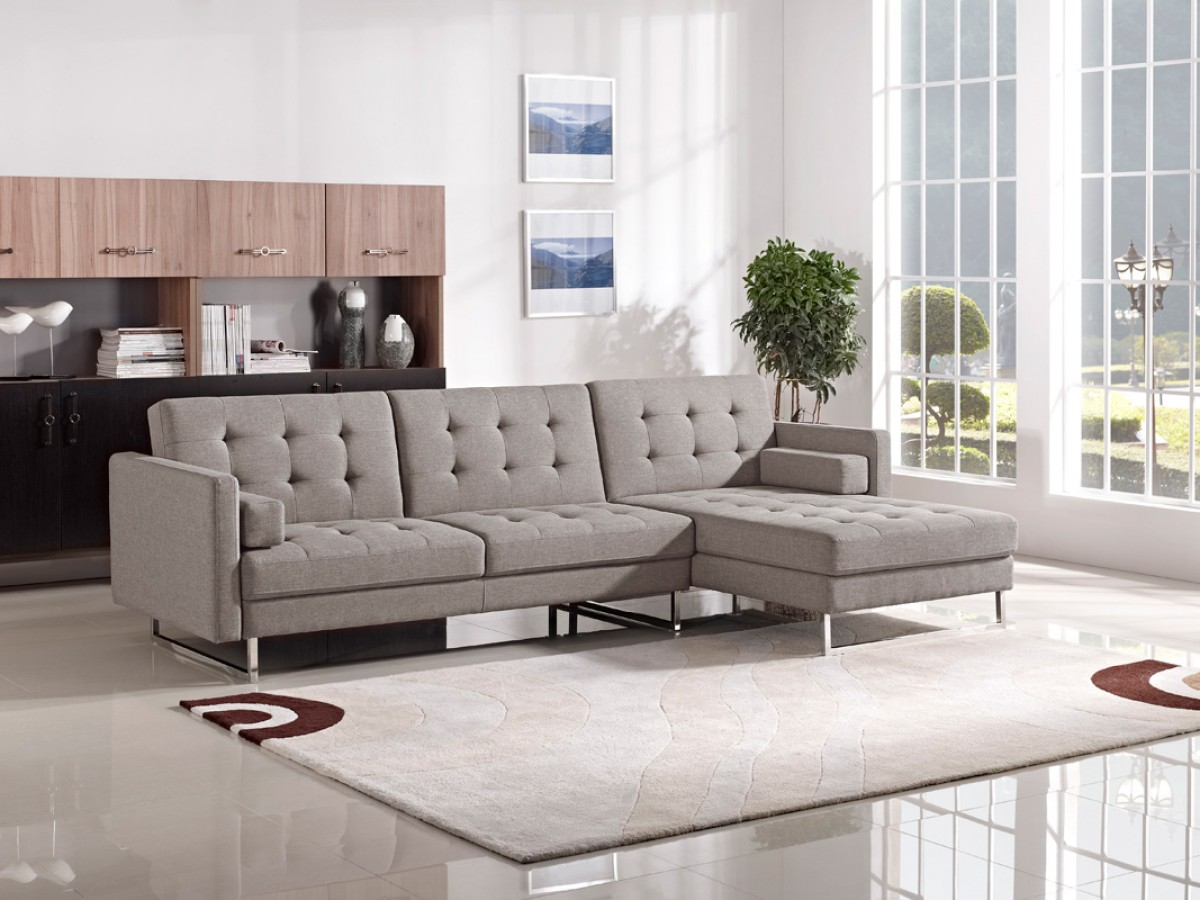 best contemporary sectional sofas cubed sofa bed divani casa smith modern brown fabric