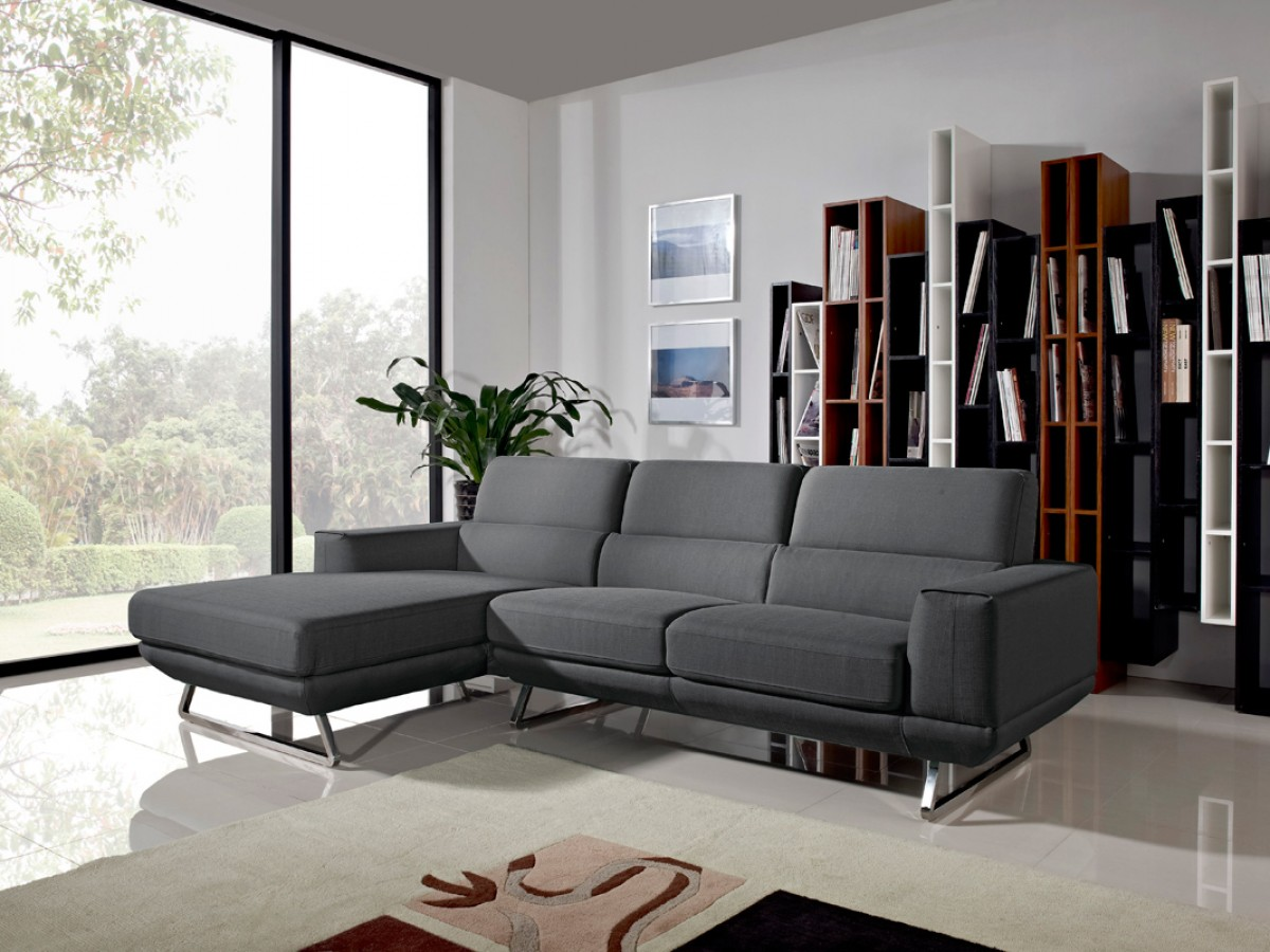 sectional sofa for sale antique looking beds divani casa becket modern dark grey fabric