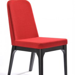 Dining Chairs Fabric Wheelchair Headrest Modrest Comet Modern Red Chair Set Of 2
