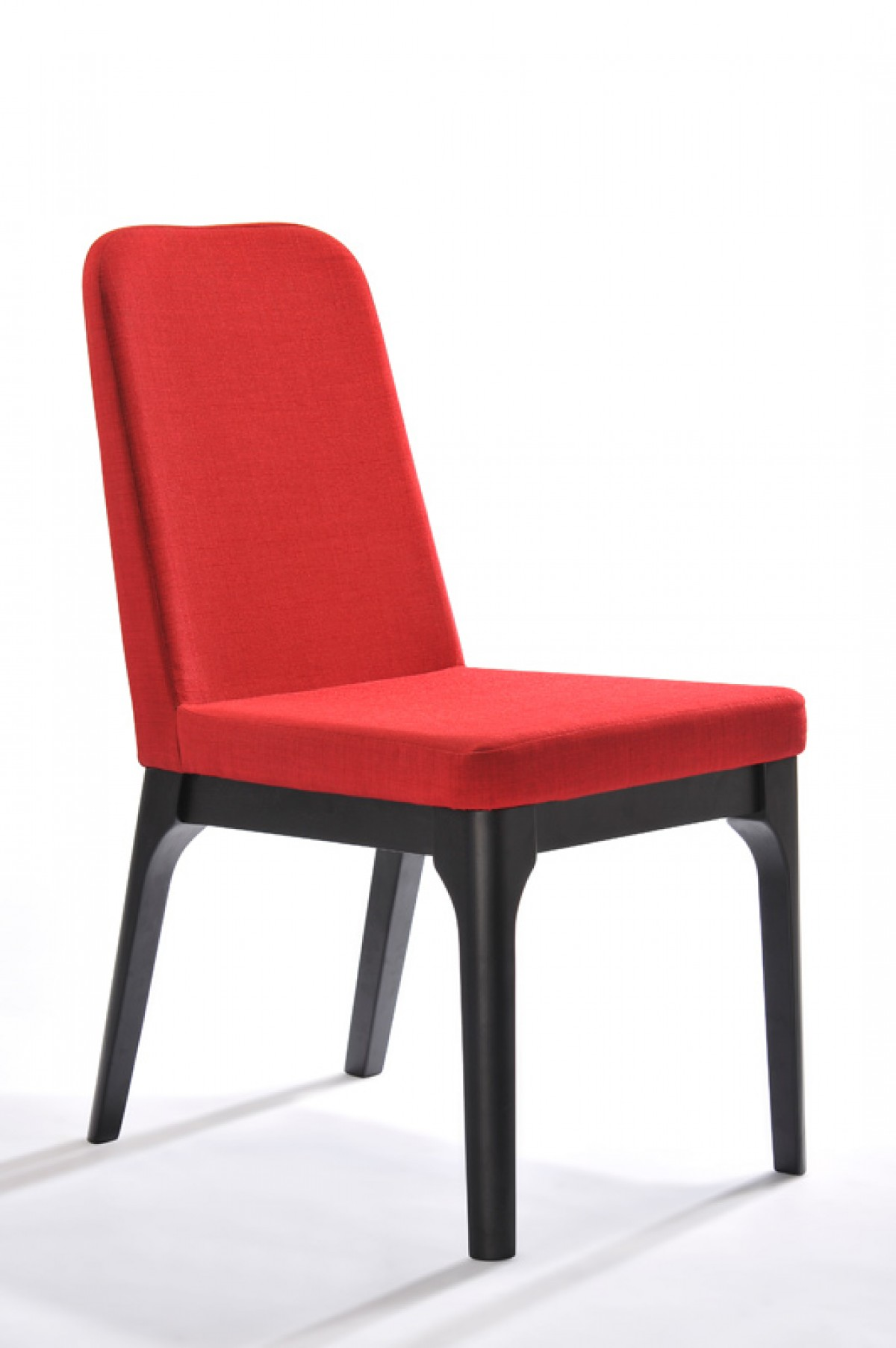 fabric dining chairs desk chair kneeling modrest comet modern red set of 2