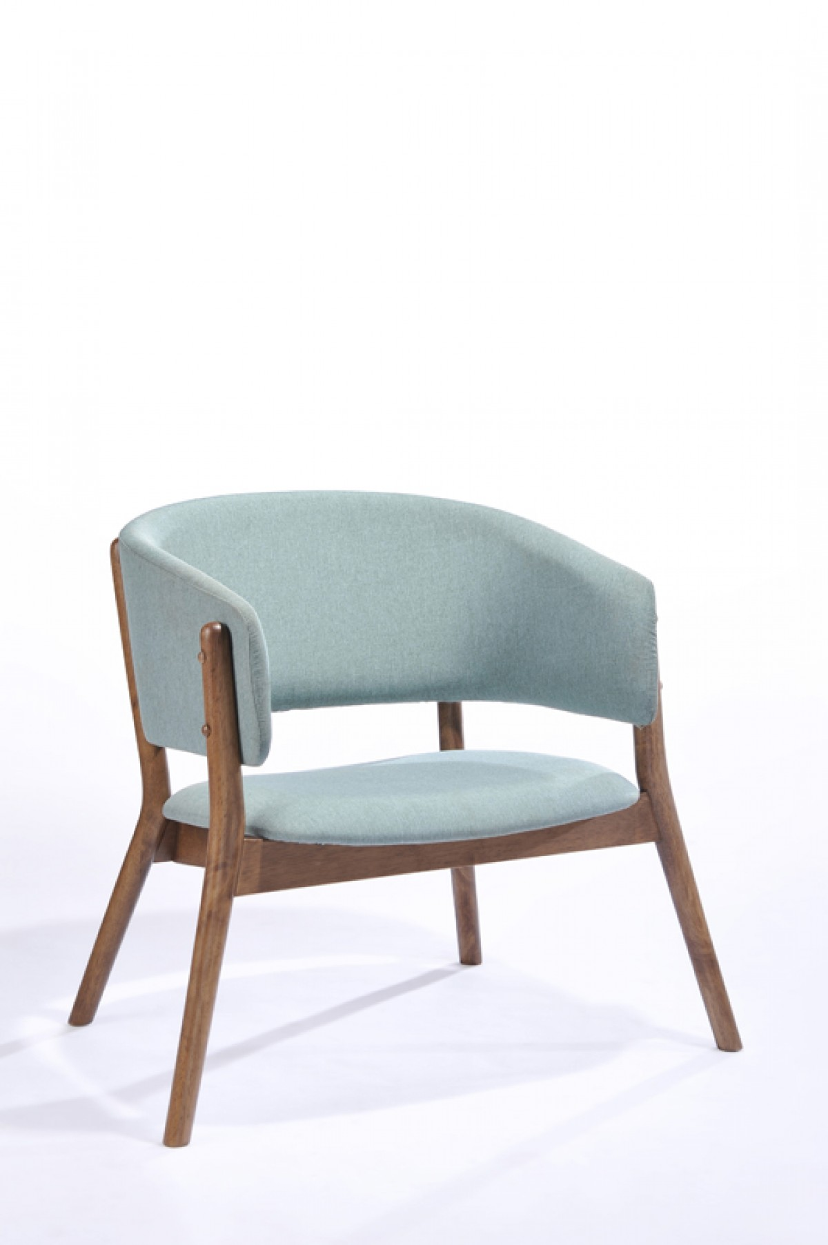 modern blue chair hanging cocoon ikea modrest dante fabric and walnut accent