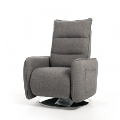 Modern Grey Leather Office Chair Salon Chairs For Sale Used Divani Casa Fairfax Fabric Recliner