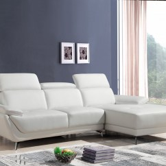 Huge Italian White Leather Modern Sectional Sofa Set Contemporary Sofas Canada Divani Casa Sterling Eco