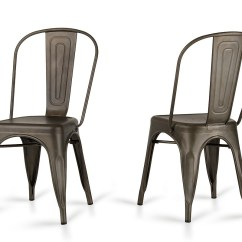 Modern Metal Chairs Hanging Upside Down Chair For Back Elan Rust Dining Set Of 2