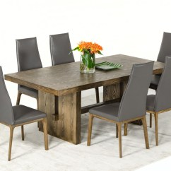 White Washed Oak Dining Table And Chairs Metal Frame Modrest Cologne Modern Wash Gallery Image 58 161