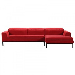 Rosso Red Leather 3 Piece Sofa Set Bed Singapore Courts Divani Casa Clayton Modern Fabric Sectional