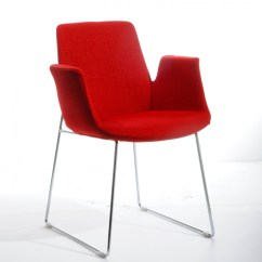 Modern Red Chair Retro Metal Dining Room Chairs Modrest Altair Fabric
