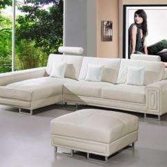 Huge Italian White Leather Modern Sectional Sofa Set Rent Pune Furniture Sacramento - For Your ...
