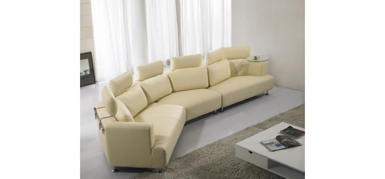816 modern black and white leather sectional sofa vig furniture sacramento - for your ...