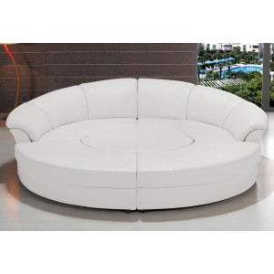 t35 mini modern white leather sectional sofa acme hilton s charcoal linen with sleeper and storage divani casa - unique designs