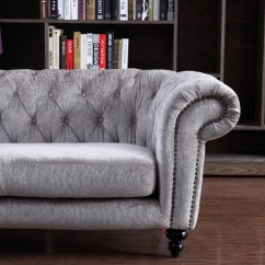 Leather And Fabric Sofa In Same Room Alstons Sofas Reviews Divani Casa Alexandrina Grey Tufted Set
