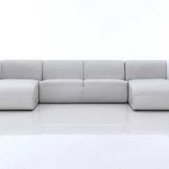 Pratts Leather Sofas American Made Sofa Beds Divani Casa Pratt Modern Grey And White Sectional