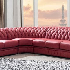 2 Seater Leather Sofa Next How To Build Your Own From Scratch Divani Casa Paris 1 - Transitional Tufted ...