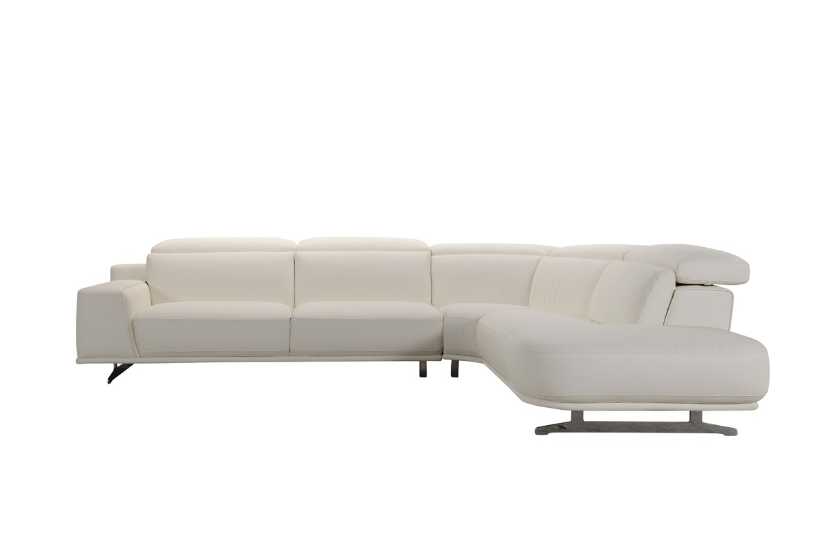 leatherette vs fabric sofa storage dundee divani casa benson modern white sectional