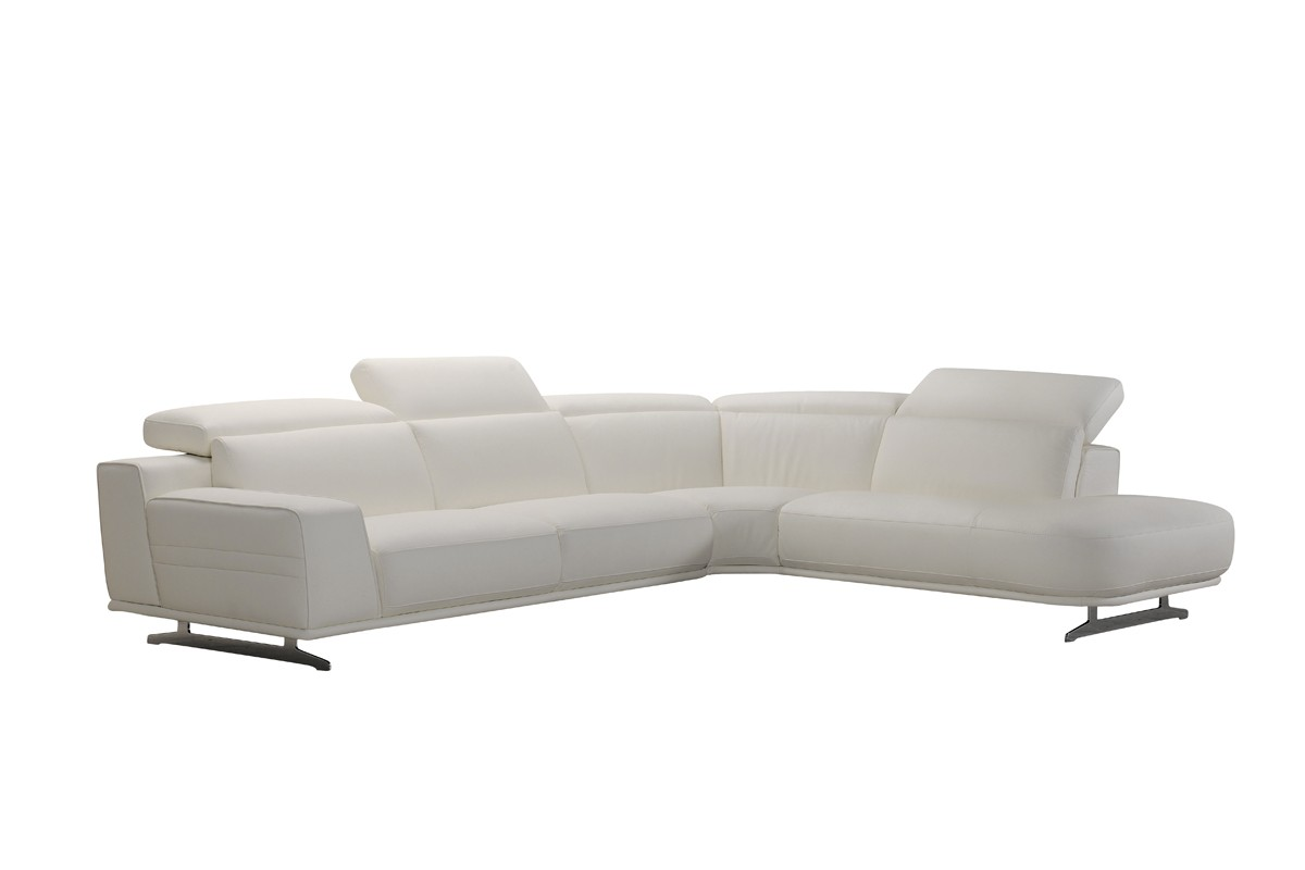 leatherette vs fabric sofa 80 leather sofas divani casa benson modern white sectional
