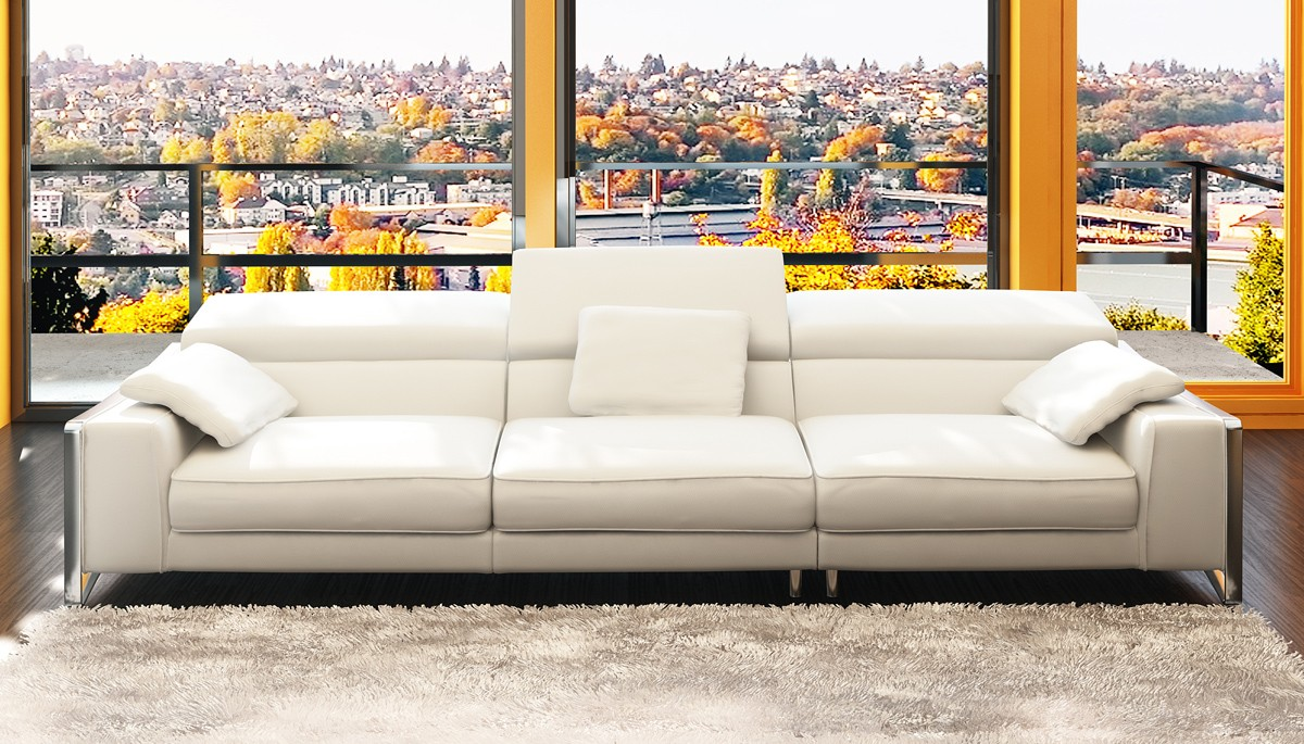 White plains, ny furniture disassembly, reassembly, repair, and moving. Divani Casa 5060B Modern White Bonded Leather 4-Seater ...