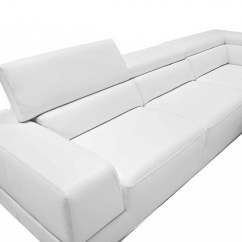 Divani Casa 5106 Modern White Italian Leather Sectional Sofa More Pella