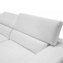 Divani Casa 5106 Modern White Italian Leather Sectional Sofa Big Lots Pella