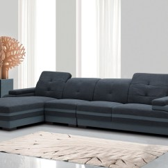 Aria Fabric Modern Sectional Sofa Set Factory Shop Derbyshire Divani Casa 5132 And Bonded Leather