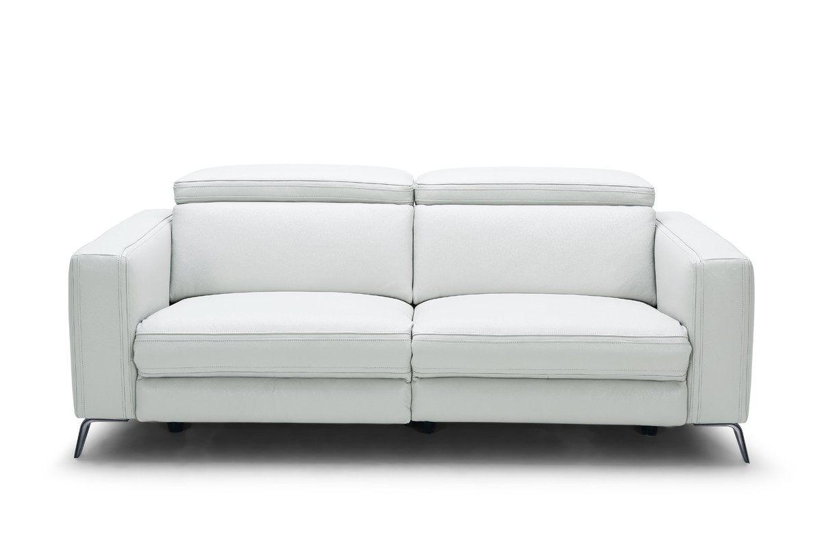 Divani Casa Roslyn Modern White Leather Sofa Set w Recliners  Reclining Sofas  Recliners