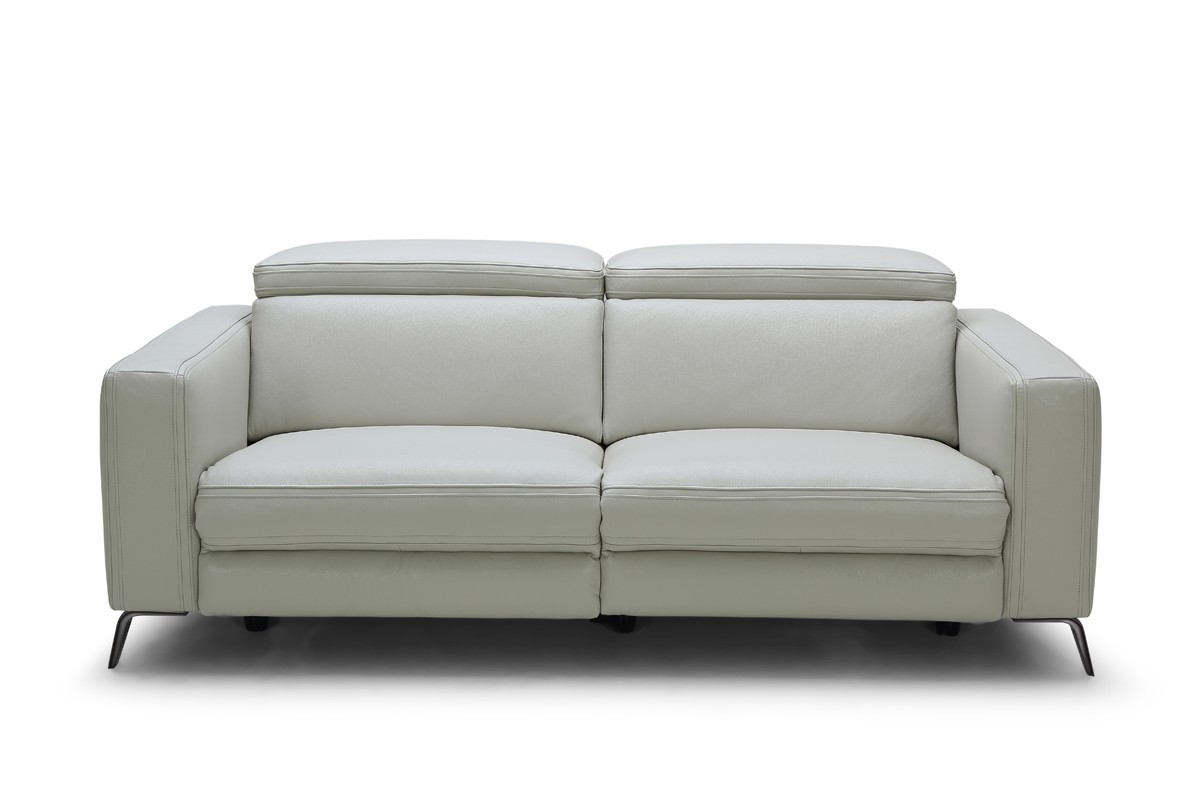 modern gray sofa set alicia red black two tone and loveseat divani casa roslyn grey leather w recliners