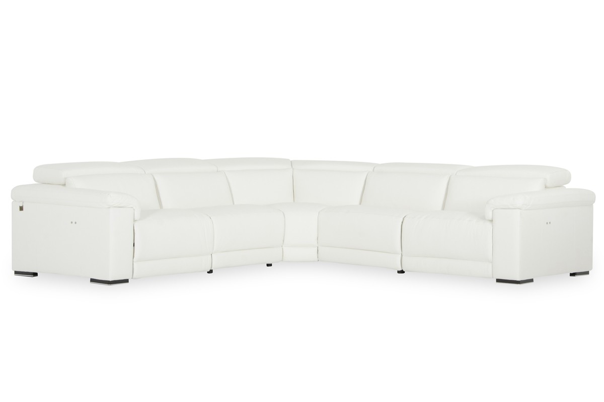 white leather sectional sofa with recliner 36 table estro salotti palinuro w recliners gallery image 175 133