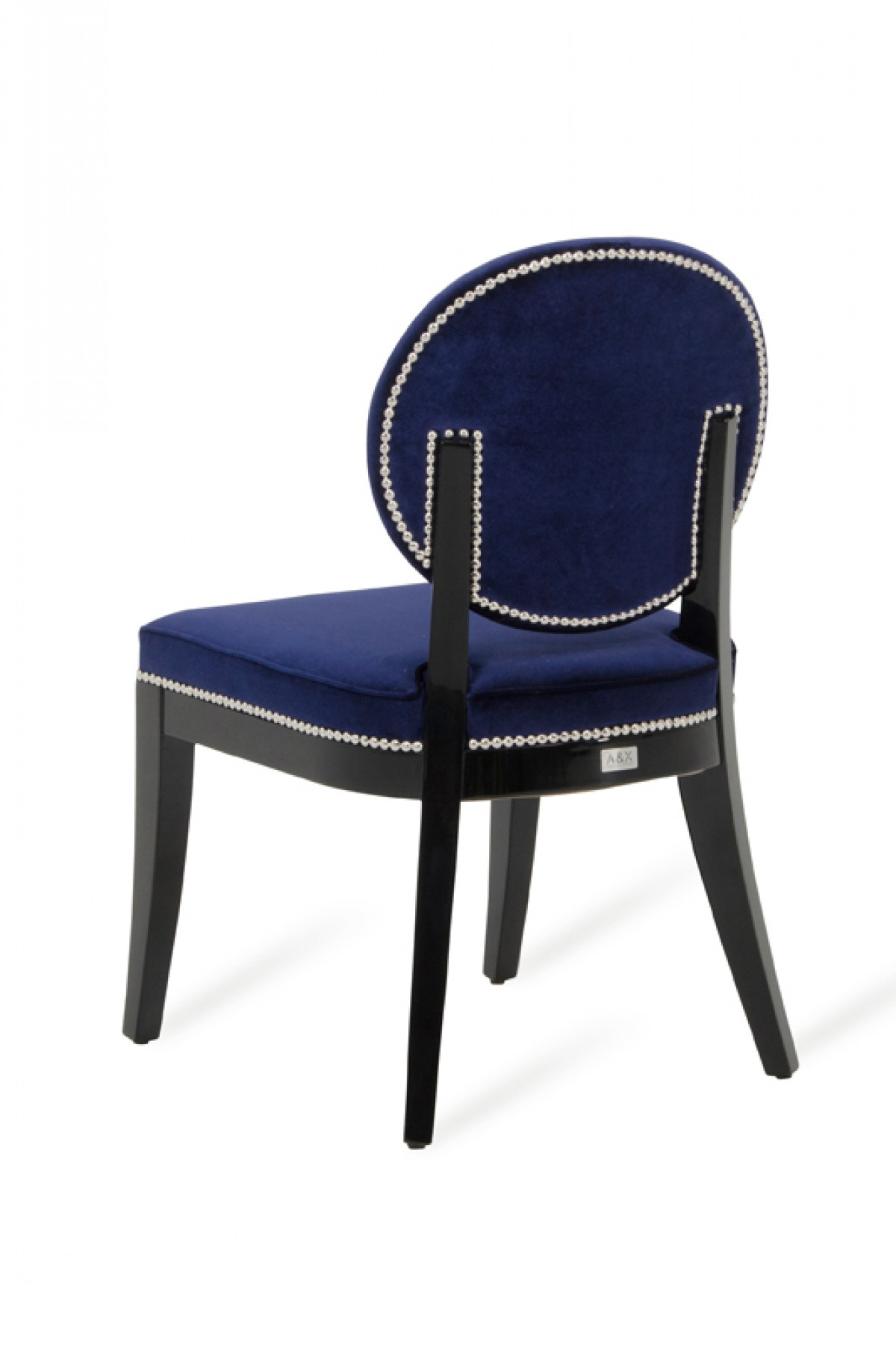 modern blue chair cross back dining chairs isabella set of 2