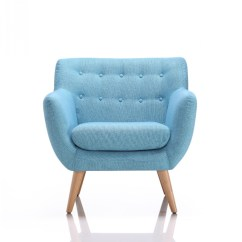Home Decor Accent Chairs Mickey Mouse Upholstered Chair Divani Casa Albany Modern Blue Fabric