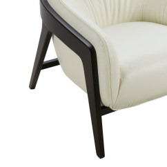 White Leather Accent Chair Modern Christmas Covers Big W Divani Casa Beaufort