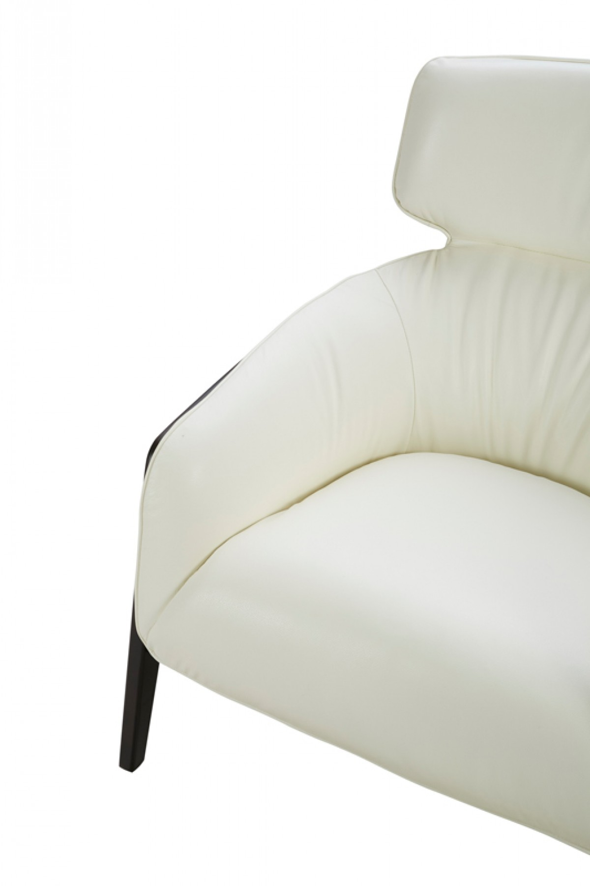 white leather accent chair modern and a half divani casa beaufort