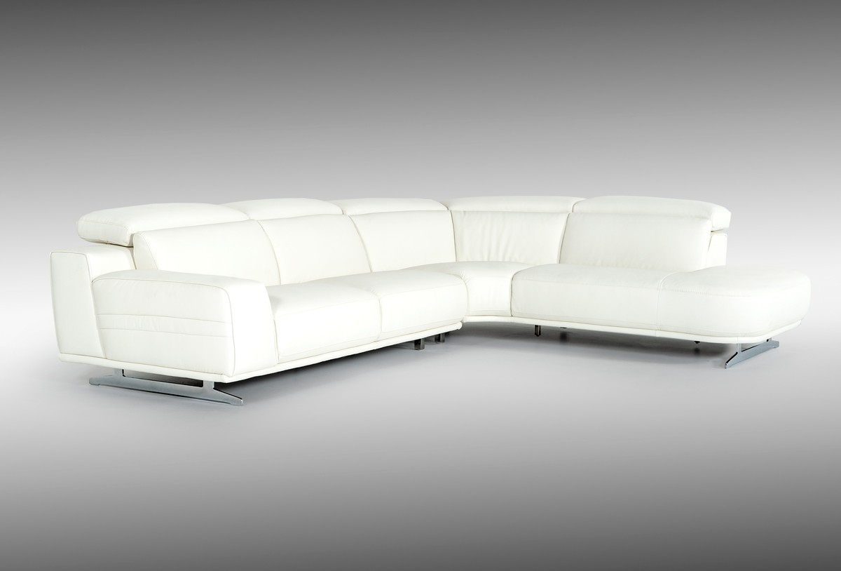 leatherette vs fabric sofa oversized chaise lounge divani casa benson modern white sectional