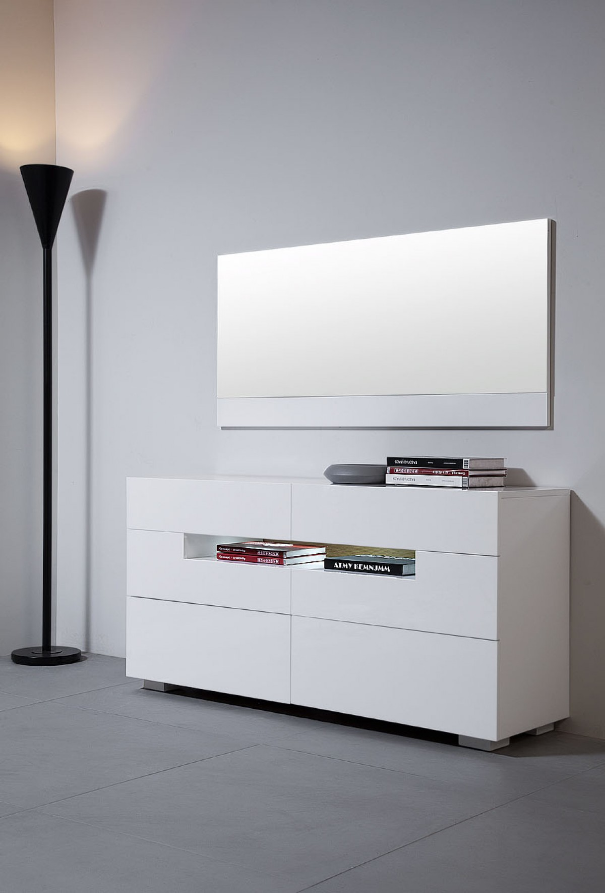 Modrest Ceres  Modern LED White Lacquer Dresser