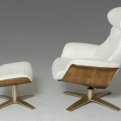 Reclining Chair With Ottoman Leather Repair Lawn Chairs Divani Casa Charles Modern White W Gallery Image 58 25