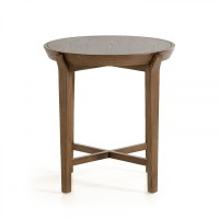 Modrest Olenna Modern Walnut Side Table - End Tables ...
