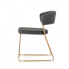 Gold Dining Chairs Bar High Ashland Modern Grey And Rosegold Chair Set Of 2
