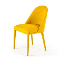 Brooke - Modern Yellow Fabric Dining Chair (Set of 2)