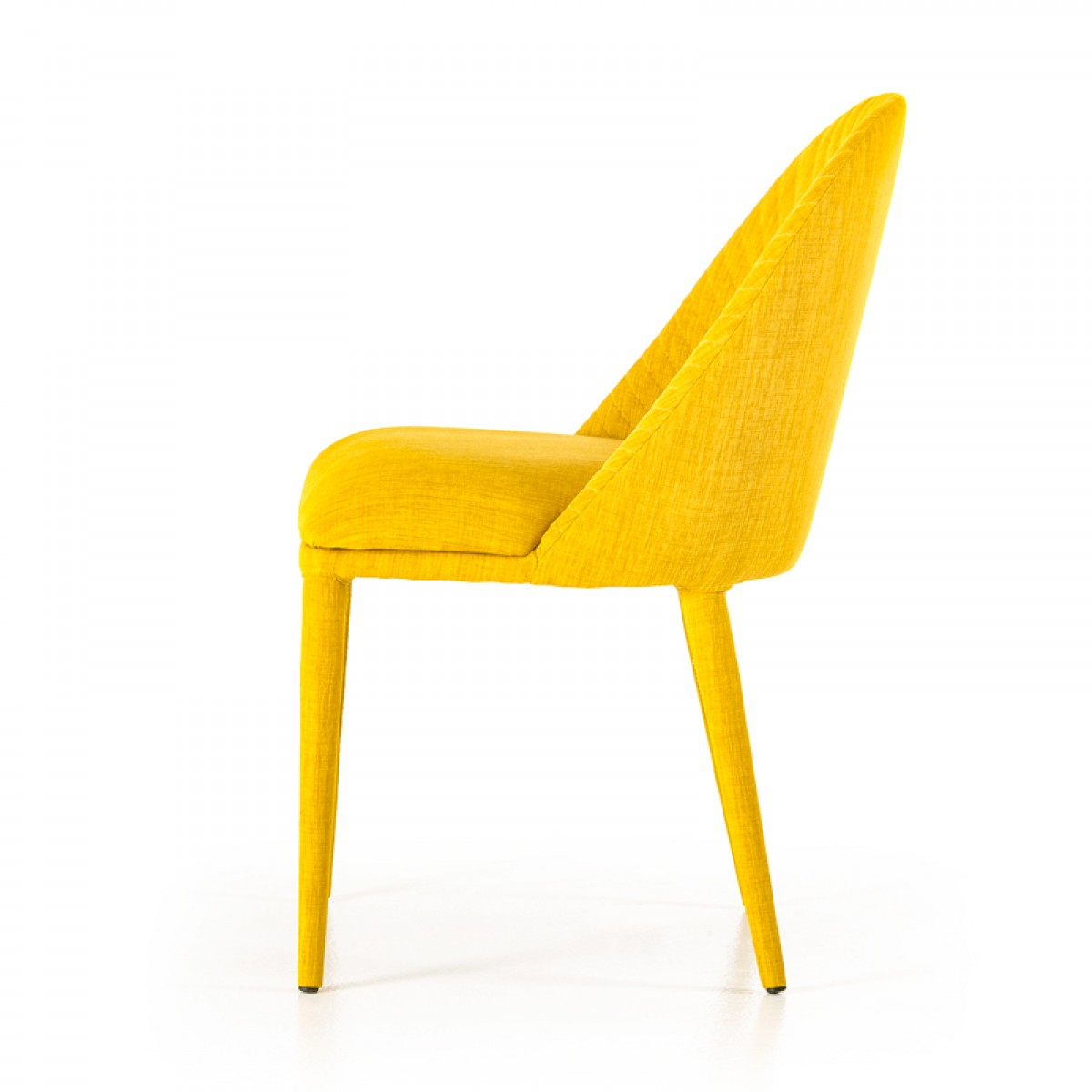 yellow upholstered dining room chairs glider rocker chair replacement cushions brooke modern fabric set of 2