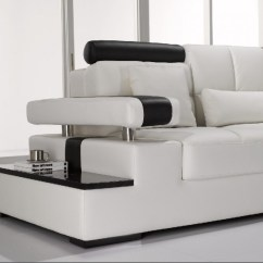 Sectional Sofa Design Cushion Refill Bristol Modern White Leather