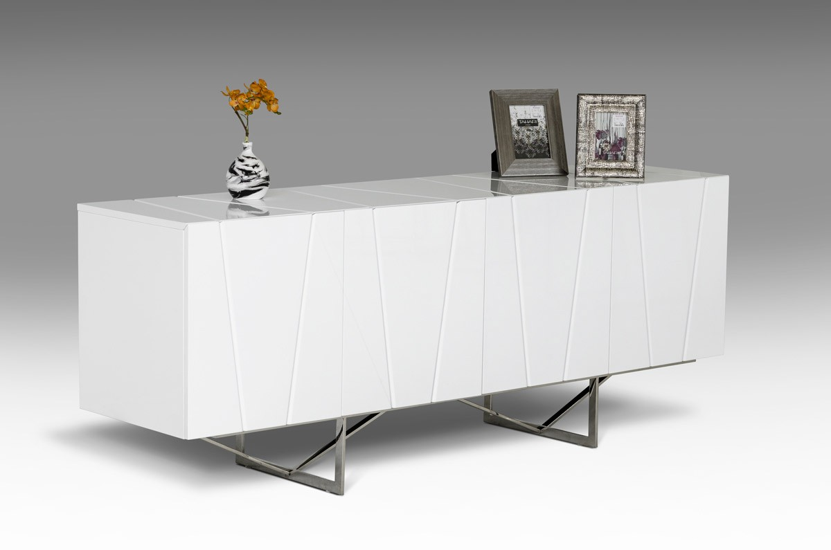 Modrest Chrysler Modern White High Gloss Buffet  Buffets