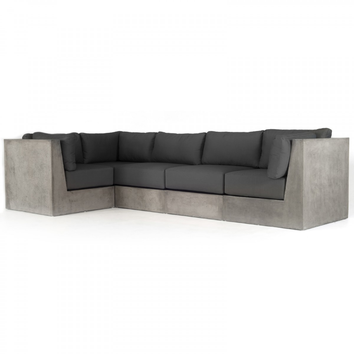 contemporary grey sofa bed stretch fit covers uk modrest indigo concrete sectional ...