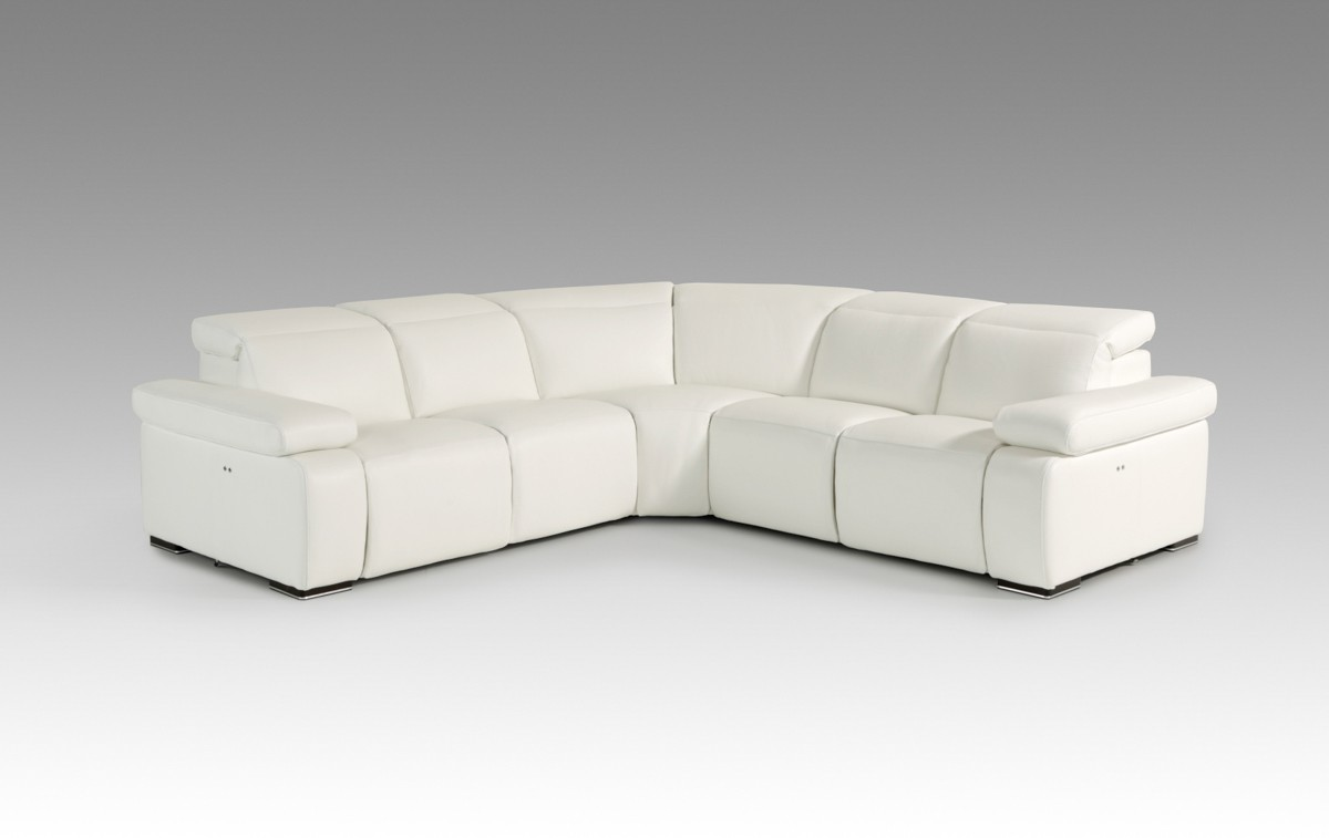 Estro Salotti Hyding Modern White Italian Leather
