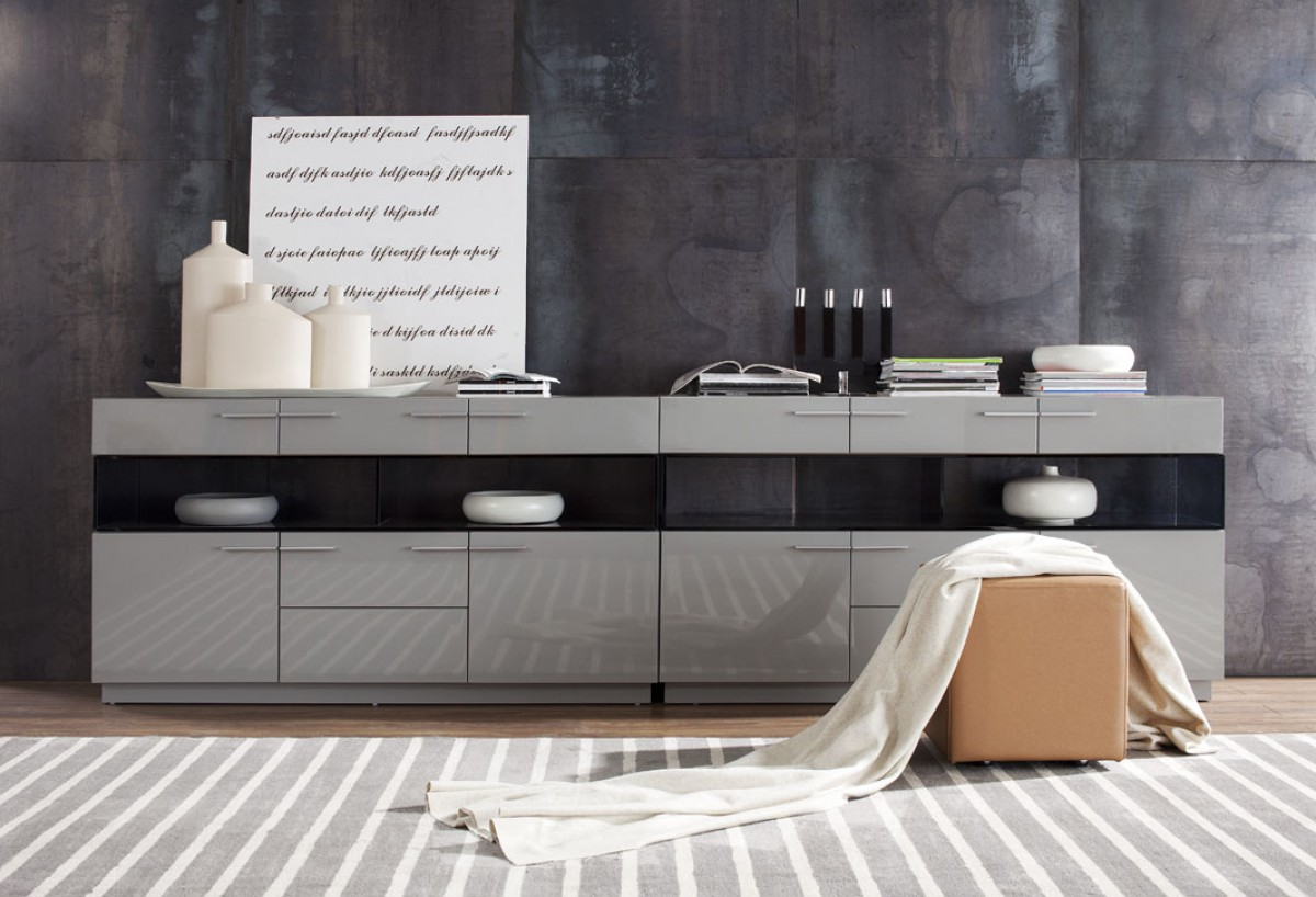 Modrest Daytona Modern Grey High Gloss Buffet  Buffets