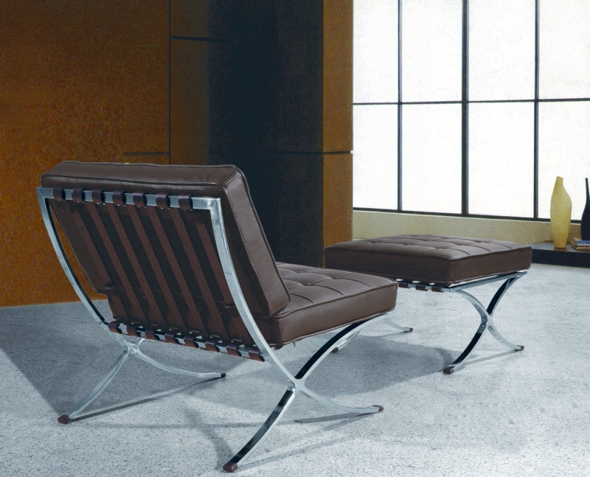 modern lounge chair and ottoman set average cost of table rentals bellatrix espresso leather