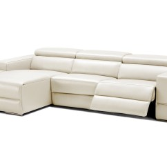 Phantom Contemporary Grey Leather Sectional Sofa W Ottoman Sure Fit Ultimate Waterproof Quilted Pet Cover Divani Casa Hilgard Modern Light