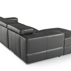 Polo Divani Contemporary Leather Recliner Sofa Vancouver 3 And 2 Seater Casa Hilgard Modern Dark Grey Sectional W